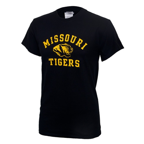 Missouri Tigers Black Crew Neck T-Shirt