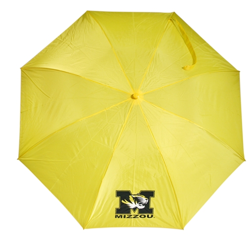 Mizzou Tiger Head Gold Automatic Umbrella