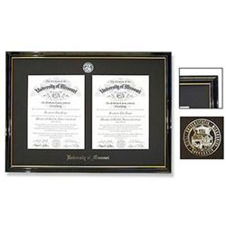 Petite Double Black Diploma Frame The Mizzou Store